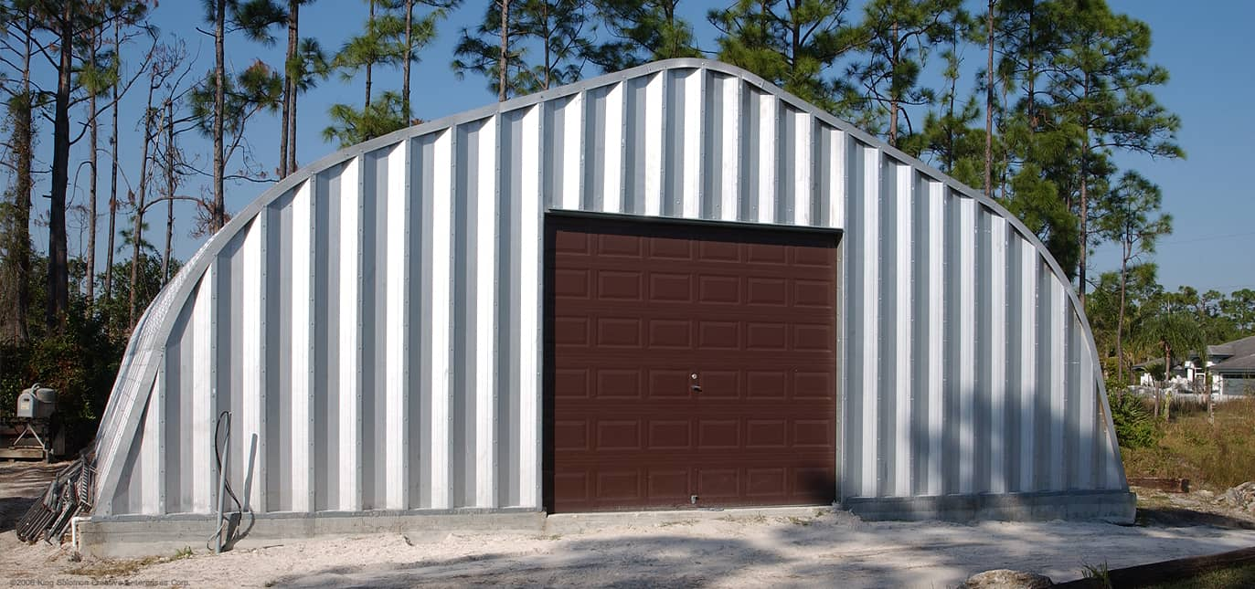 Stahlgebäude mit Rundbögen, Bausätze für Metallgaragen, Metall-Lagerschuppen